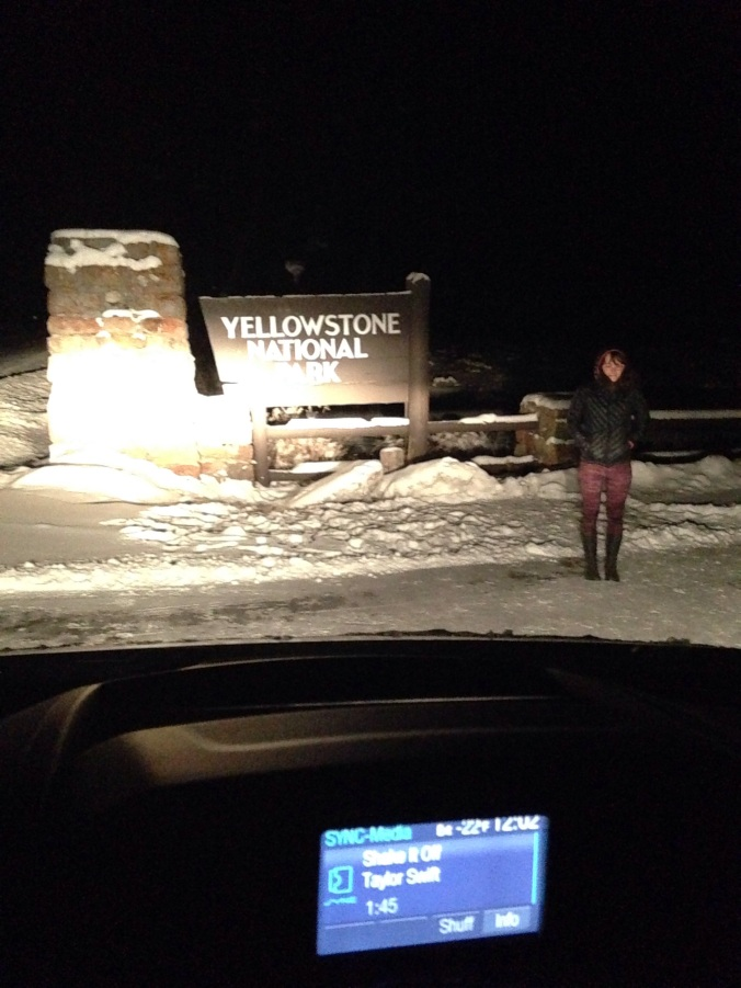 Arriving at Yellowstone late at night. -20's.