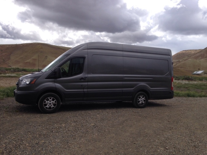 Van at the Painted Hills