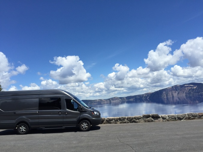 Van at Crater Lake
